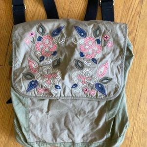 Embroidered rucksack or messenger bag